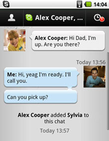 Image #1 of Skype message app!