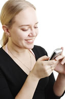 image of person sending text message - (c) Mjp @ Dreamstime.com