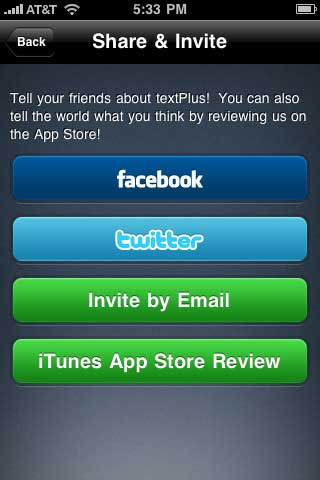 Image #2 of textPlus message app!